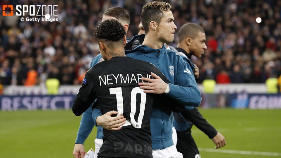 PSGで夢の共演⁉︎ ネイマールがC・ロナウド加入を望む「一緒にプレーしたい」