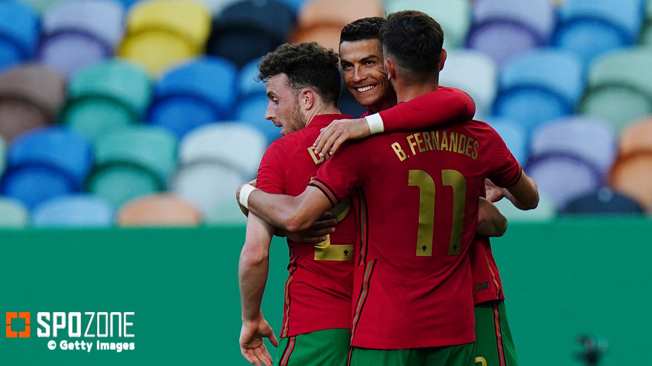 ポルトガルがEURO開幕前に圧巻パフォ! イスラエルに4ゴール快勝