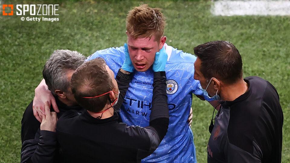顔面骨折のデ・ブルイネがEURO初戦を欠場…ベルギー代表監督が明かす「今答えを出すのは早すぎる」