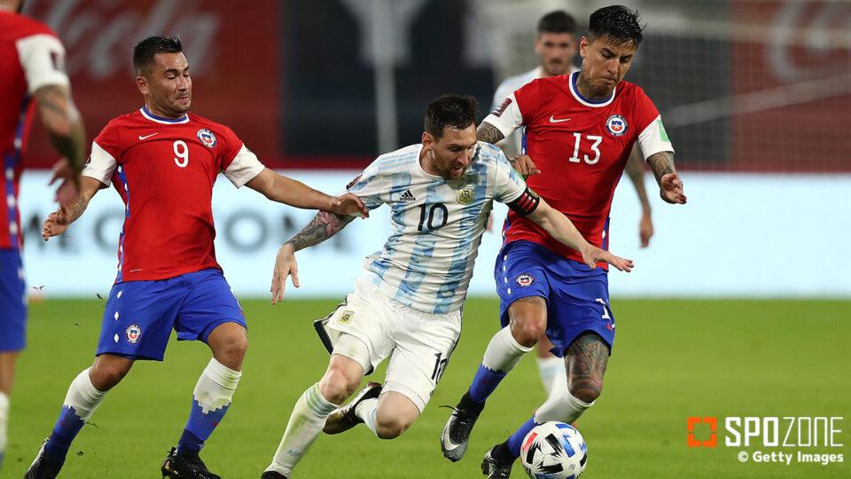 メッシPK弾で先取点奪うも…アルゼンチンがチリの追いつかれドロー