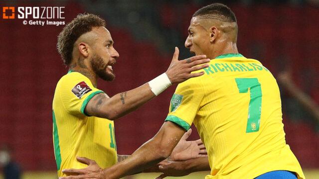 首位ブラジルが勝負強さを披露!リシャルリソン&ネイマール弾でW杯予選5連勝!